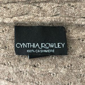 Taupe 100% Cashmere Cynthia Rowley Sweater